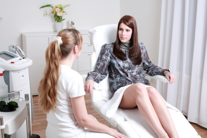 Aesthetician with Client